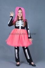 5615. Веселый скелет для девочки в шопенке