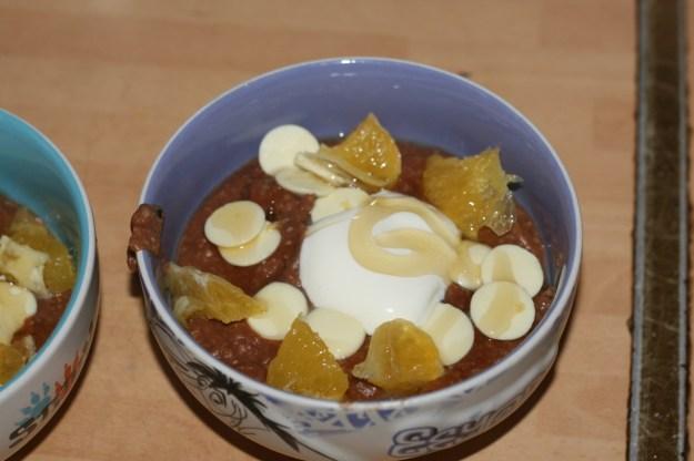 my chocolate porridge