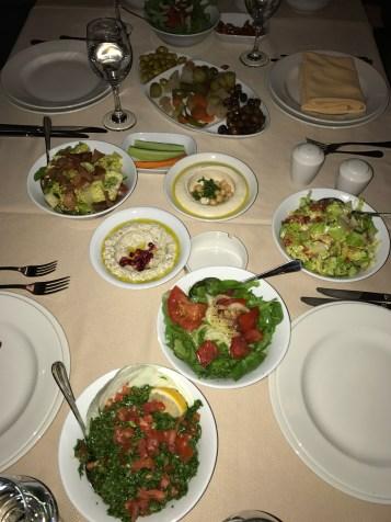 Sumptuous salads (Lebanese cuisine)