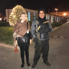 Cynthia and the Hotel's Security Guard