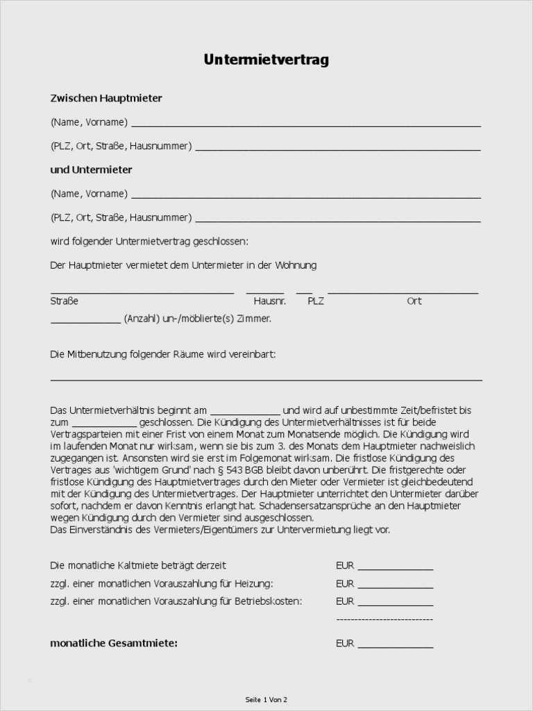 Untermietvertrag Vorlage Kostenlos Download : untermietvertrag, vorlage, kostenlos, download, Untermietvertrag, Muster, Vorlage