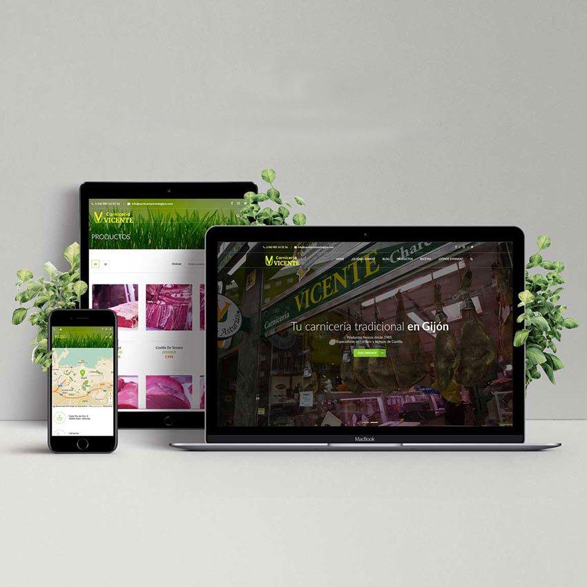 Página web para carnicería en Gijón
