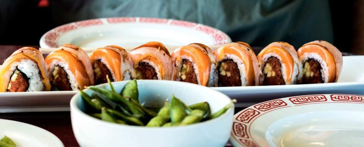 Plato de sushi en Instagram