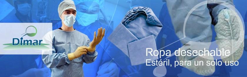 Venta de ropa hospitalaria para cirugía, estéril y no estéril de un sólo uso desechable