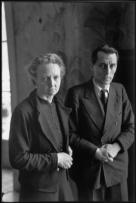 FRANCE. Irene and Frederic JOLIOT-CURIE. Around 1944.