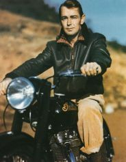 Alan Ladd on a Motorcycle