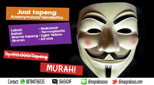 Jual Topeng ANonymous / vendetta