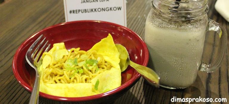 Republik Kongkow Punya Mie Selow dan Minuman Rapuh