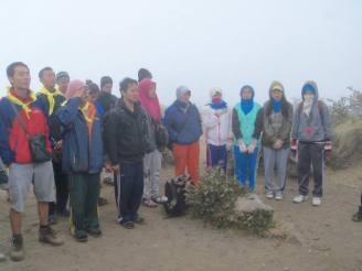 The ceremony on the top of the mountain