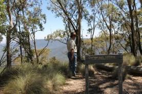 Pete checking out the dangerous cliffline