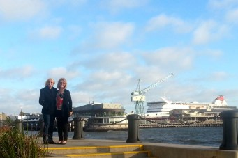 Port Melbourne - Di and Phyllis at Station Pier (Vic)