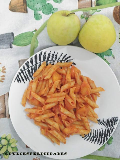 Macarrones con manzana (receta vegana): #cocinarte