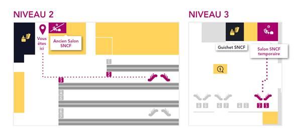 Le salon grand voyageur de ParisMontparnasse dmnage  SNCF  Blog de la ligne TGV Atlantique