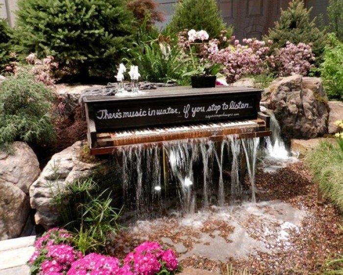 Manfaatkan Piano Lamamu Menjadi air terjun