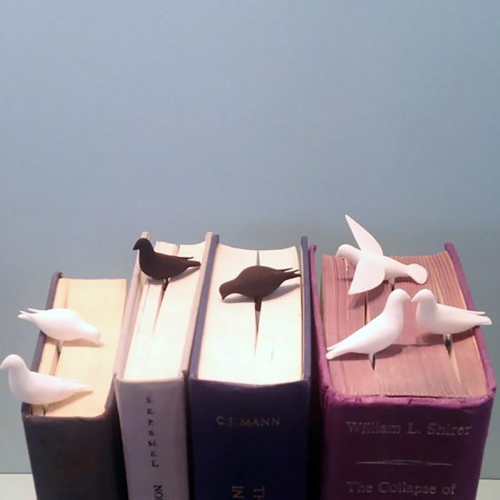 Pembatas Kertas Buku Bentuk Burung dara