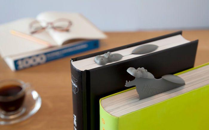 Penanda Halaman Buku Bentuk Kuda nil