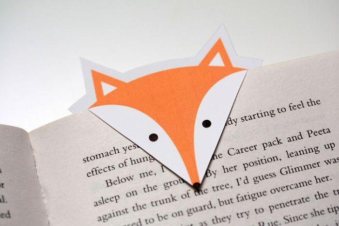 Pembatas Buku Origami - Halaman Buku Bentuk Serigala