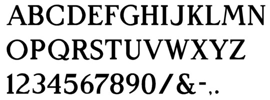 Molded Sign Letters in Architectural font style
