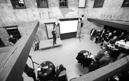 Dimension Mill Opening Party - Speakers, Audience, Demo's, & DJ - 11-15-2018 - by Benedict Jones & Sabra Binder-129