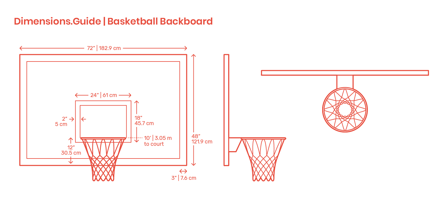 Basketball Backboards Dimensions & Drawings   Dimensions.Guide