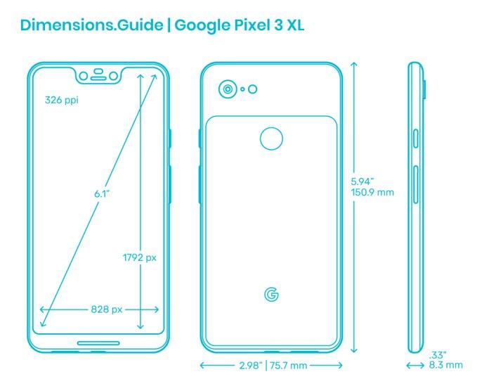 Google Pixel 3 Xl Dimensions Drawings Dimensions Com