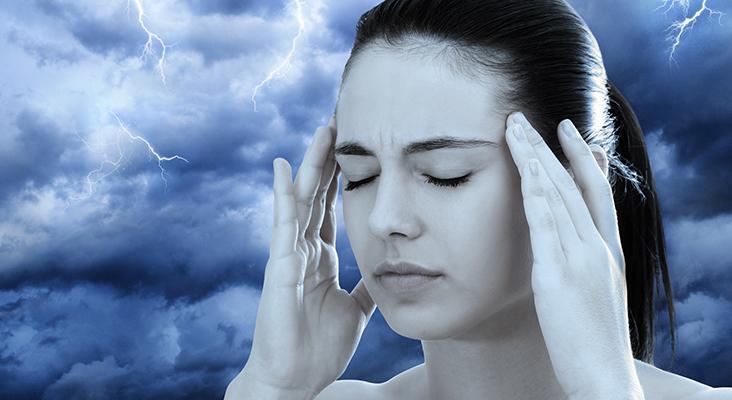 Conceptual image of woman meditating