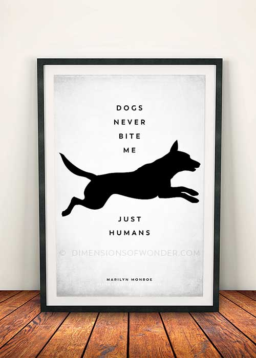 free printable wall art inspirational quote about dogs