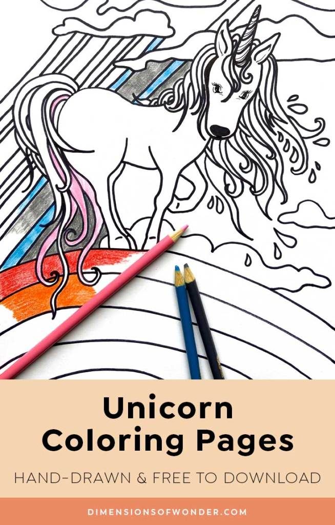 coloring pages 1 unicorn