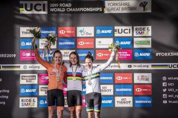 Podium des championnats du monde sur route Dames 2019