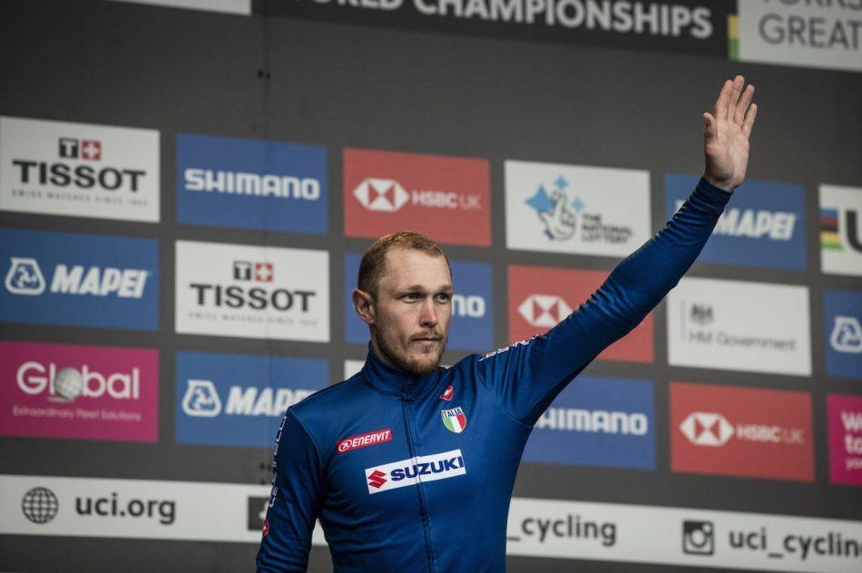 Matteo Trentionpodium championnat du monde élite 2019
