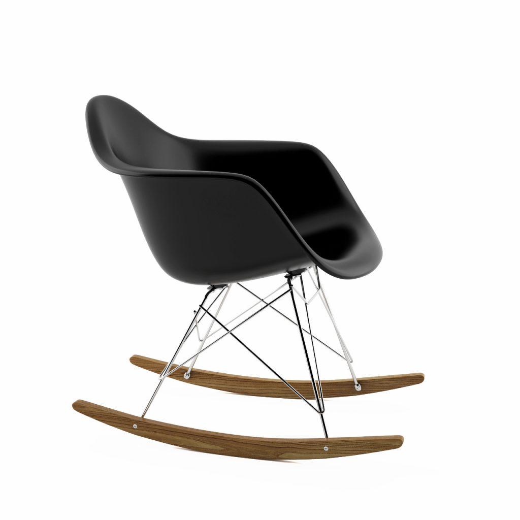 eames rocking chair white chairs for wedding armchiar rocker by vitra dimensiva