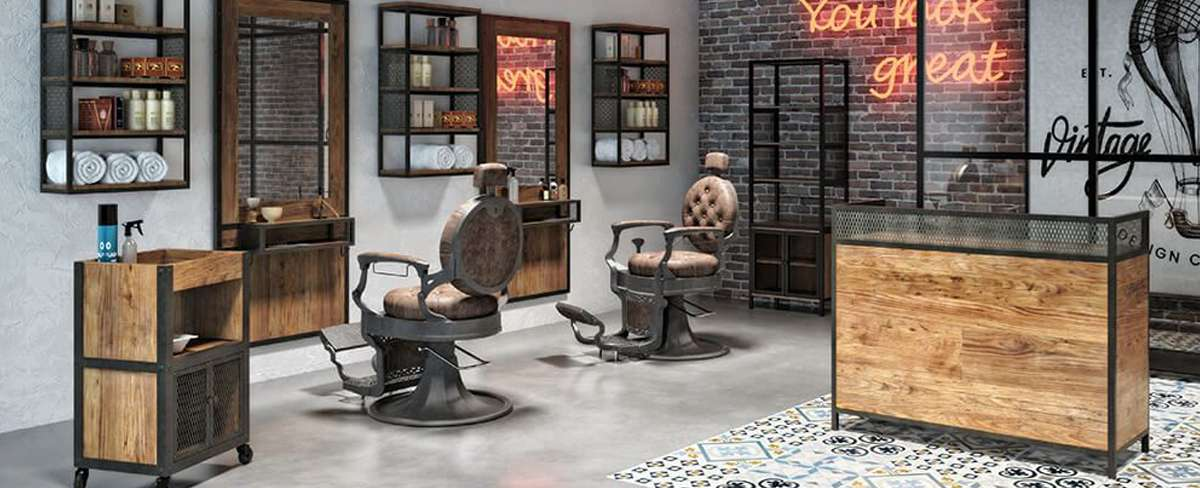 mobilier barbier garage collection
