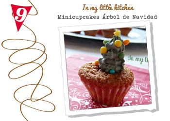 Mini cupcakes árbol de Navidad