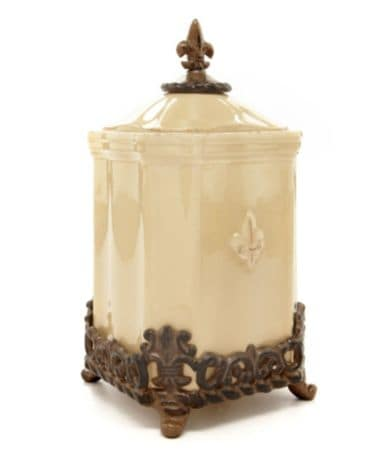 Canister set with metal base myideasbedroom com