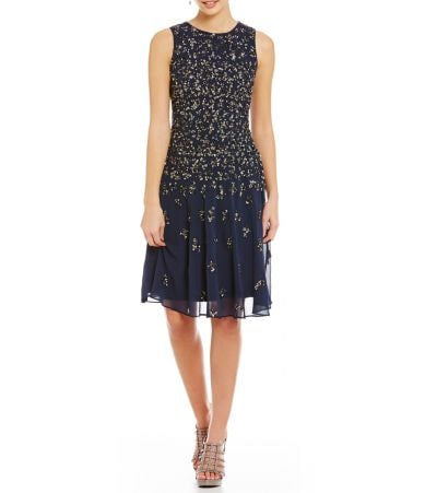 Adrianna Papell Sequin Cocktail Dress Dillards
