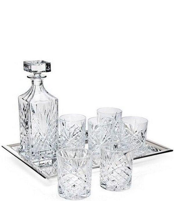 Godinger Dublin Diamond-cut Crystal 8-piece Whiskey Set Dillards