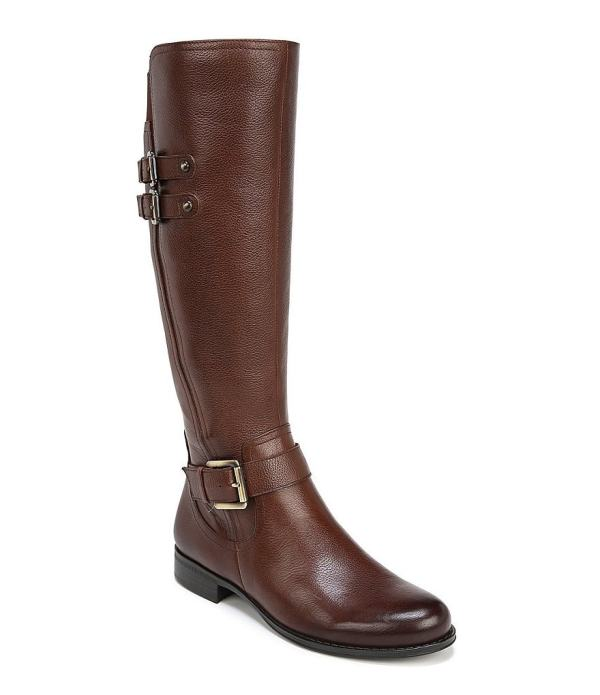 Naturalizer Jessie Wide Calf Buckle Detail Riding Boots