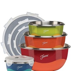 Fiesta Kitchen How Much Cost Remodeling Tools Decor Dillard S 8 Piece Mixing Bowl Lid Set