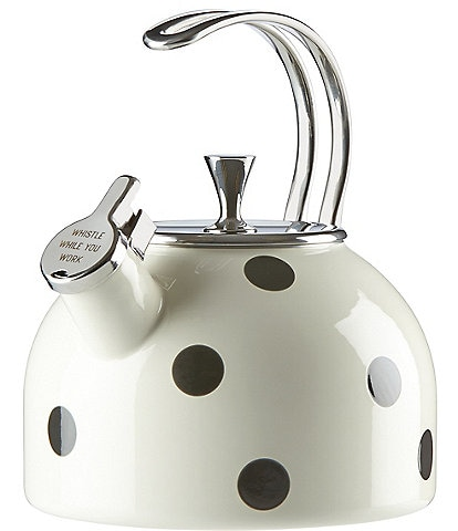 kate spade kitchen remodeling buffalo ny home dining bedding dillard s new york all in good taste deco dot whistle while you work enameled steel
