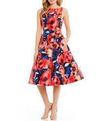 Floral Fit and Flare Dresses