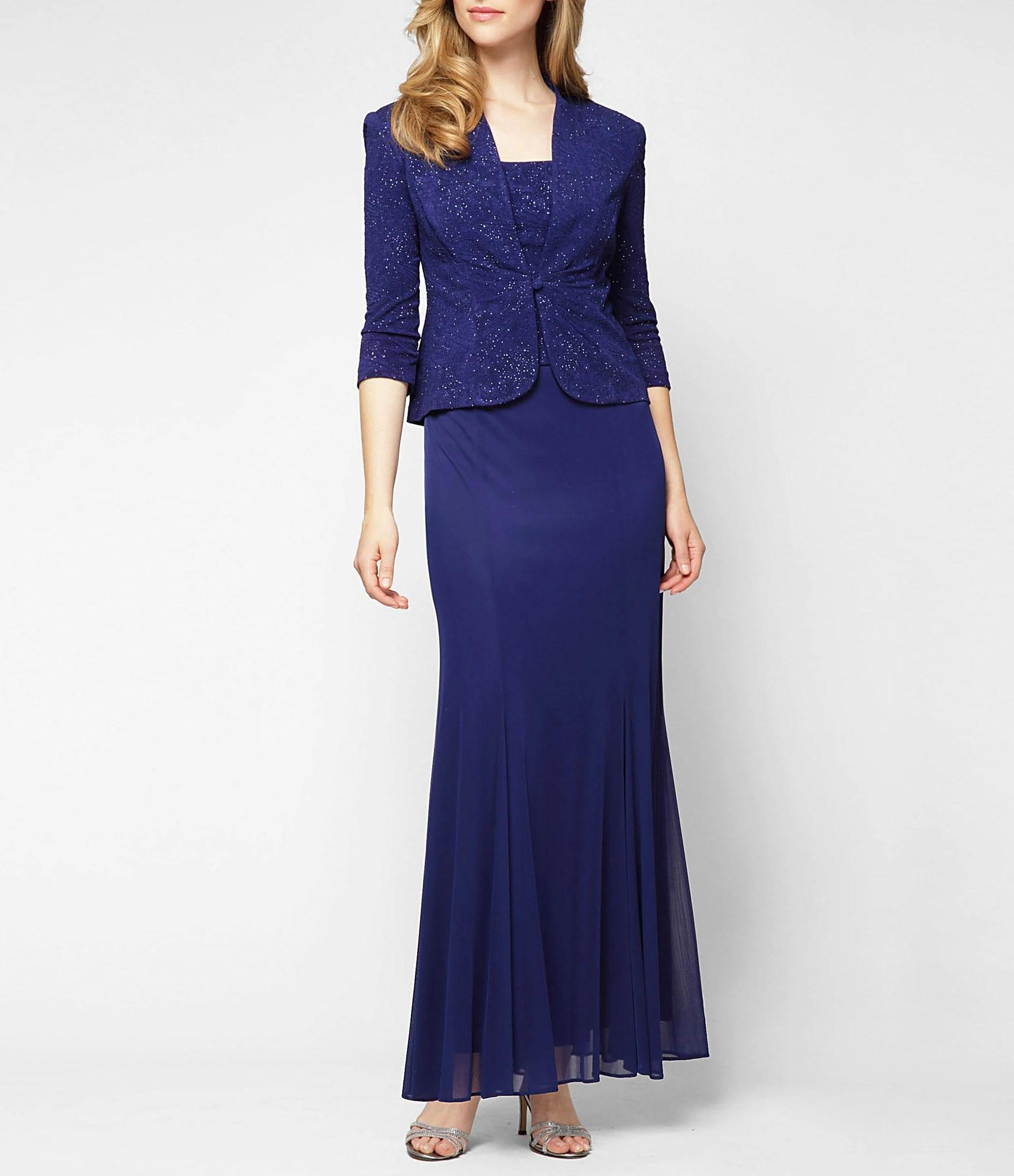 Alex Evenings Petite Embellished Jacket Dress  Dillards