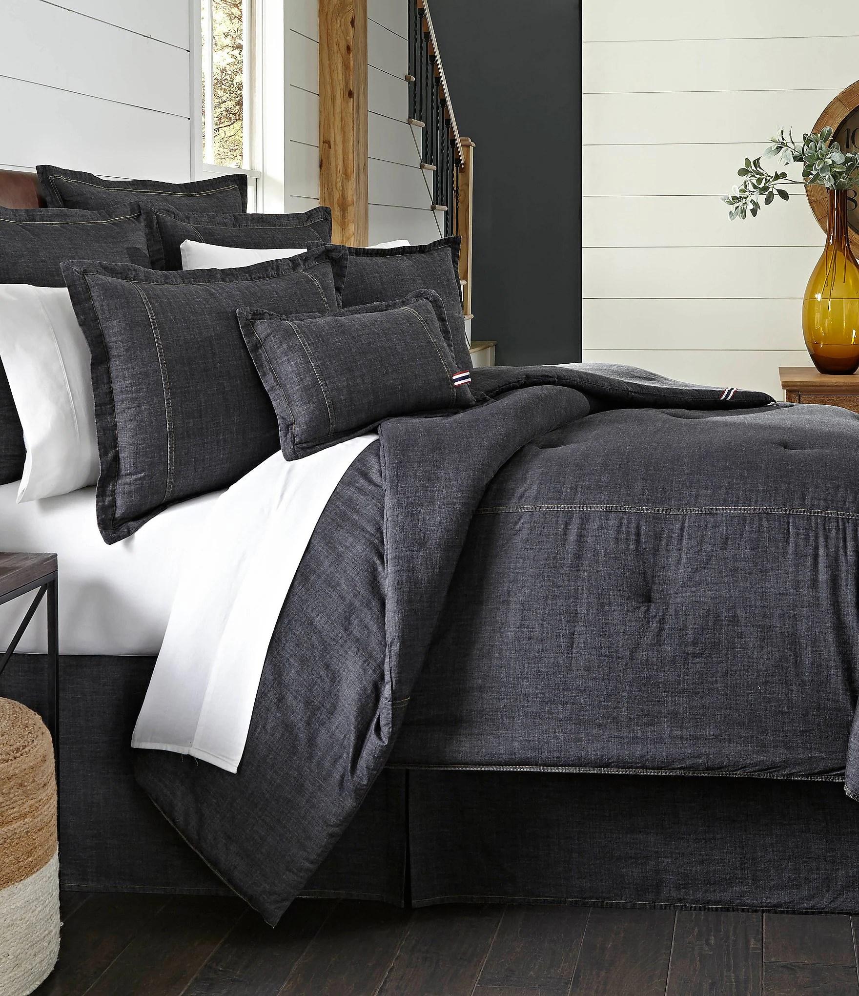 Cremieux Vintage Washed Denim Comforter  Dillards