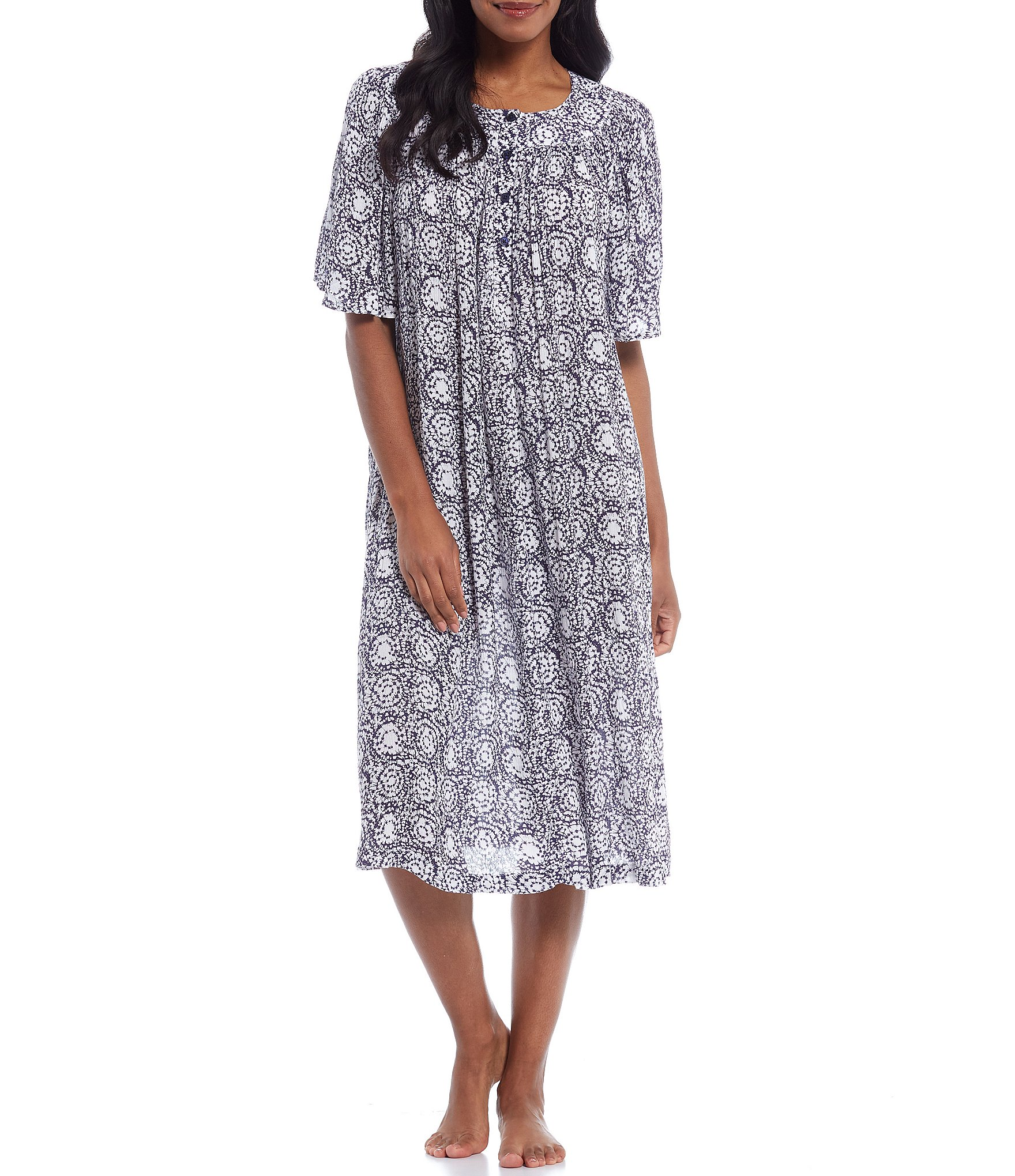 go softly circle montage printed crinkled woven patio dress