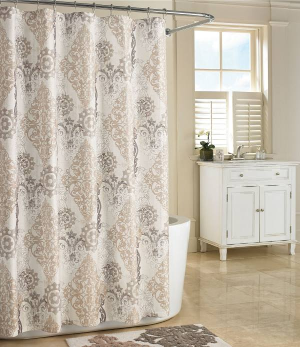 Queen York Galileo Damask Shower Curtain Dillards