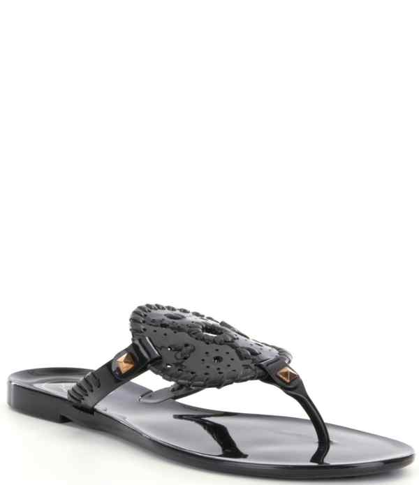 Jack Rogers Georgica Studded Whipstitched Slip Jelly