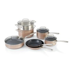 Kitchen Aid Cookware Granite Set Kitchenaid Toffee Delight Hard Anodized Nonstick 11 Piece