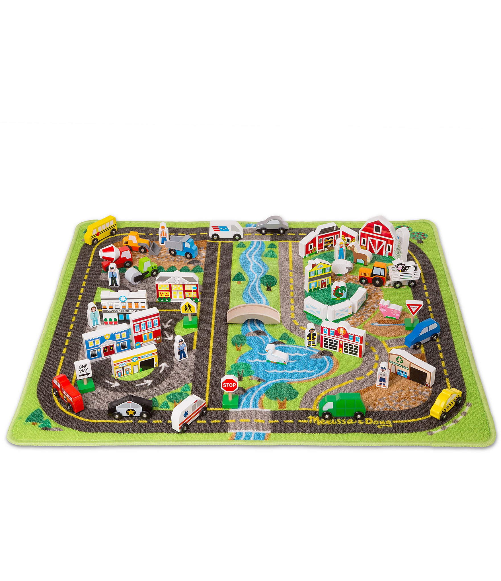 Melissa & Doug Deluxe Road Rug Play Set  Dillards