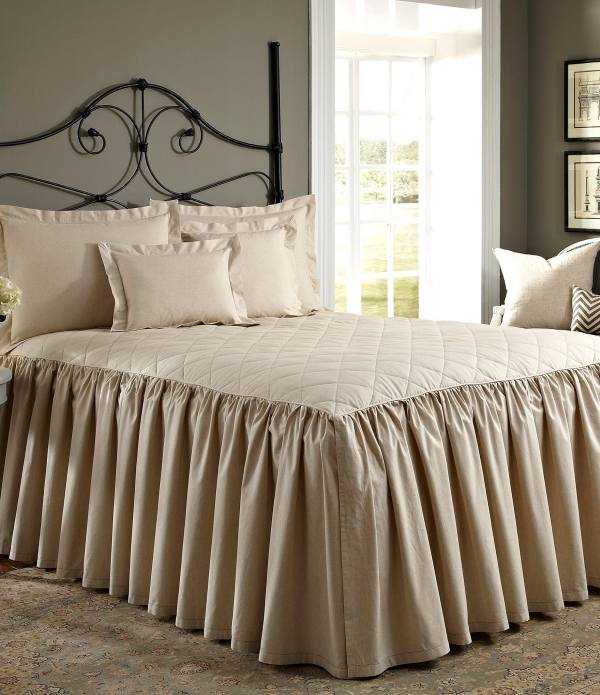 Noble Excellence Villa Quilted Ruffled Bedspread Dillards