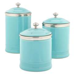 Ceramic Kitchen Canisters Ninja System Southern Living Citrus Statements Collection ...