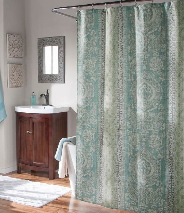 Studio Callie Medallion Faux-linen Shower Curtain